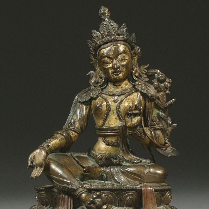 Bronze of Green Tara