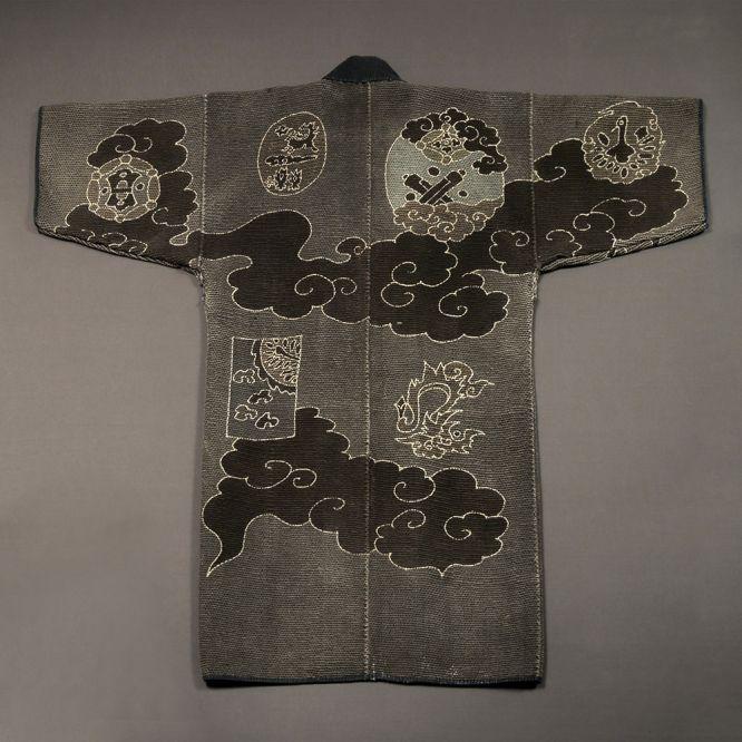 Sashiko-stitched Fireman's Coat