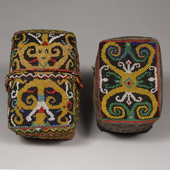 Pair of  Dayak Woman's Boxes