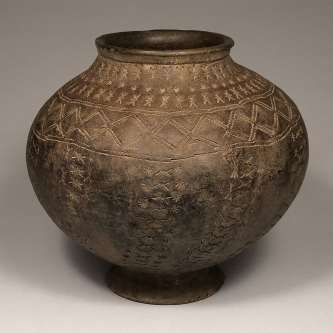 Kalinga Jar with Incised Design