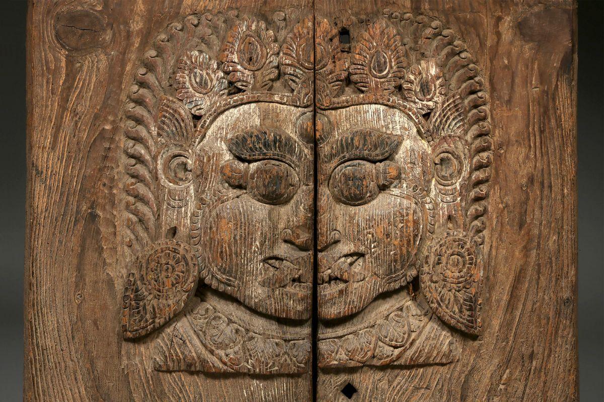 <?php echo Bhairava Temple Door Panel?>