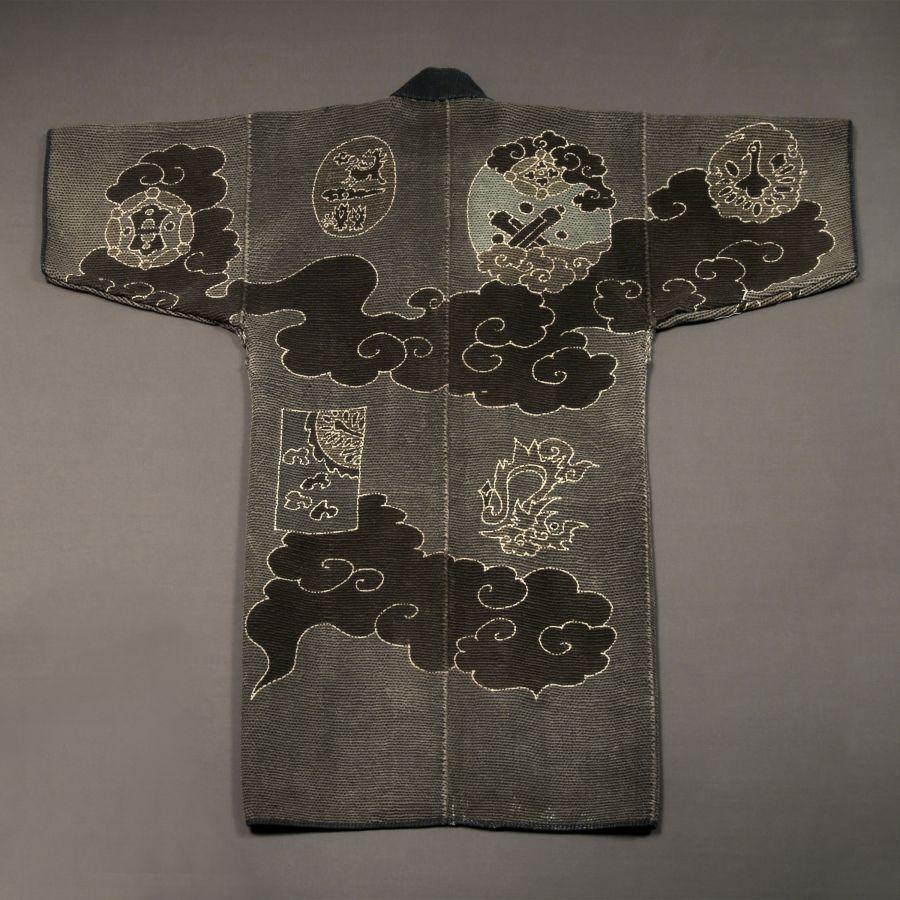 <?php echo Sashiko-stitched Fireman's Coat?>